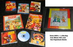 Alvin & The Chipmunks DVD Blu-Ray Movie Soundtrack Music CD Book Lot in Kingwood, Texas