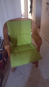 Wicker chair from germany in Davis-Monthan AFB, Arizona