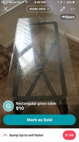 living room table glass and metal in Camp Lejeune, North Carolina