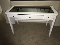 White desk with glass top in Camp Pendleton, California