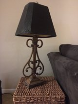 Iron Lamp with Black Shade in Kingwood, Texas