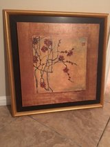 Oriental style picture with gold frame in Kingwood, Texas