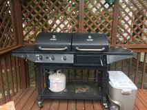 Gas & Charcoal Awesome Grill with propane tank included. in Chicago, Illinois