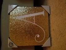"Glittered ""A"" canvas (brand new) in Fairfield, California"