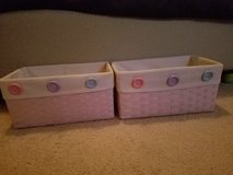 2 Light lavender storage containers with buttons in Fairfield, California