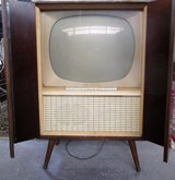 Functional 1950s TV with Mohogany Cabinet in Ramstein, Germany