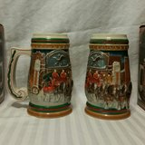 2 VINTAGE 1997 BUDWEISER HOLIDAY STEINS in Fort Benning, Georgia