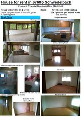 House for Rent in Schwedelbach in Ramstein, Germany