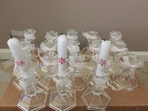 18 glasses candles stand for debutant in Naperville, Illinois