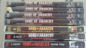 Seasons 1,2,3,4 of Sons of Anarchy  DVDs in Ottawa, Illinois