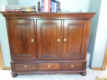 antique entertainment center;  all heavy wood in Chicago, Illinois
