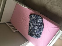 Toddler bed with memory foam mattress and sheet in Hinesville, Georgia