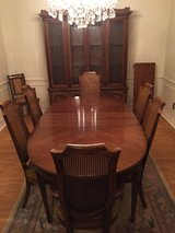 Dining Table w 6 Chairs, China Cabinet and Bar Console in Kingwood, Texas