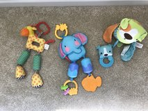 Assorted Baby Stroller/Carseat Dangling Toys in Naperville, Illinois
