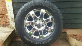 Four new F150 tires with rims in Fort Drum, New York