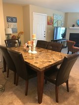Dining Table Set  - 7- Piece Rectangular Beige Marble Top in Wilmington, North Carolina