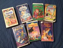 7 VHS Disney Classic Videoes in Perry, Georgia