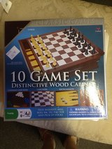 10 games in wooden box in Fort Campbell, Kentucky