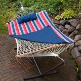 Hammock with Stand and Accessories-quilted blanket, roll pillow and more in Naperville, Illinois