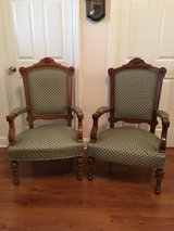 Pair of antique Victorian Eastlake Arm Chairs in Cherry Point, North Carolina