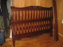 solid wood queen size  bed frame in Okinawa, Japan