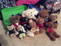 teddy bear collection (10) includes polo, masters, UGA in Perry, Georgia
