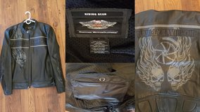 Harley leather riding jacket in San Clemente, California