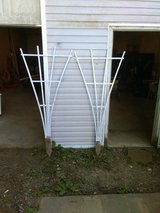 Two flower trellis's in Fort Campbell, Kentucky