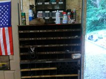 Two nut and bolts bins from Auto shop in Fort Campbell, Kentucky