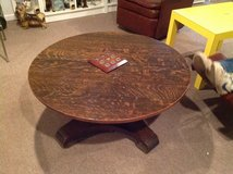 Vintage Round oak coffee table in Bartlett, Illinois