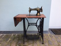 Singer sewing table cast iron decoration in Ramstein, Germany