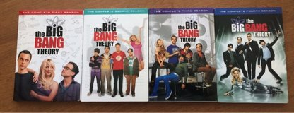 The Big Bang Theory- Seasons 1, 2, 3 & 4 (DVD's) in Naperville, Illinois