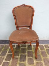 beautiful antique wood chair with velvet in Ramstein, Germany