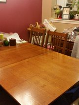 Craftsman style dining room set and hutch in Naperville, Illinois