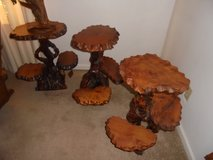 Hand Carved End Tables in Perry, Georgia