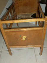 VINTAGE - Whitney Wood Doll Bed in Glendale Heights, Illinois