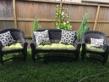 Black Wicker Furniture in Kingwood, Texas