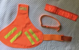 Dog Hunting (or Night Walks) Reflective Vest + Collar + Leash Cover in Fort Campbell, Kentucky