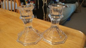 Pair glass Candle holders in Lawton, Oklahoma