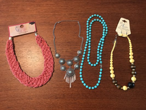 Four necklaces & one pair earrings in Perry, Georgia