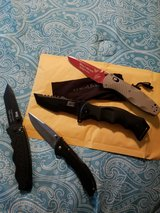 4 Brand New Knives - Benchmade (Custommade) Buck Mtech Xtreme SOG. Never used. in Camp Lejeune, North Carolina