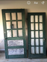Old doors with hardware in Perry, Georgia