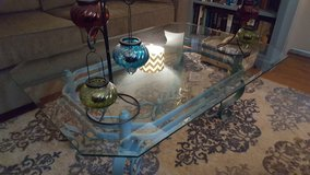 Glass coffee table... in Fort Campbell, Kentucky
