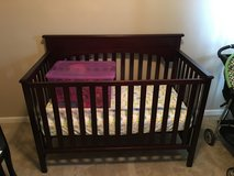 Barely used crib with mattress in Fort Campbell, Kentucky