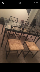IKEA black table with 4 chairs in Bellaire, Texas