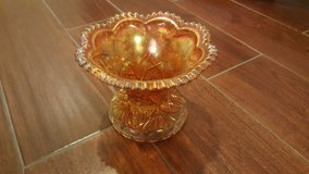Orange Carnival Glass Candy Dish in St. Charles, Illinois