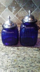 Blue Glass Canister Set in Naperville, Illinois