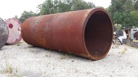 large steel culvert in Cleveland, Texas
