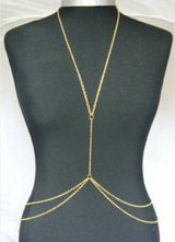 Gold fashion body chain in Jacksonville, Florida