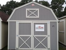 Cook 12x16 Lofted Storage Shed in Fort Benning, Georgia